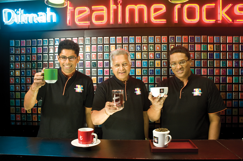 Tea time rocks with Dilmah! - Malik, Merrill and Dilhan - Ph. Copyright Dilmah
